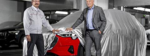 Todo preparado para la presentación del Audi e-tron