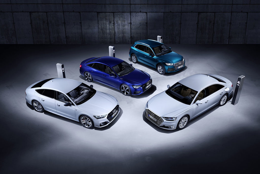 TFSI e: la primera gama de híbridos enchufables de Audi