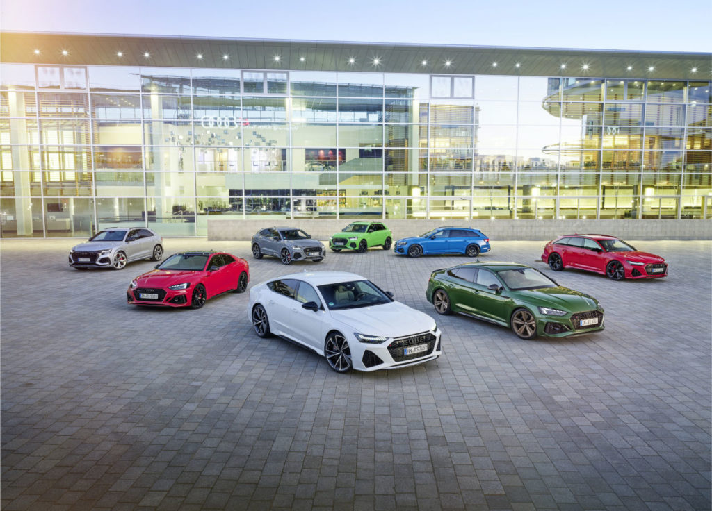 La gama deportiva Audi RS lidera las ventas de vehículos de altas prestaciones en España